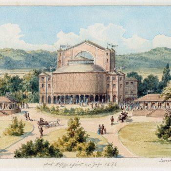 Aquarell: Festspielhaus, Susanne Schinkel, 1876