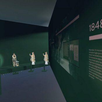 Visualisierung des Raumes zum Bühnenfestspiel;