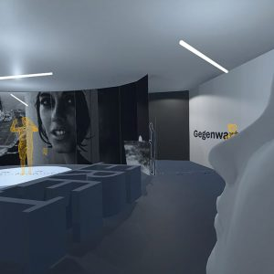 Visualisierung des Raumes zum Spektakel