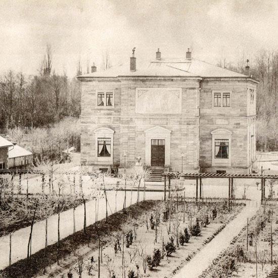 Foto: Haus Wahnfried, Vorderseite, um 1876
