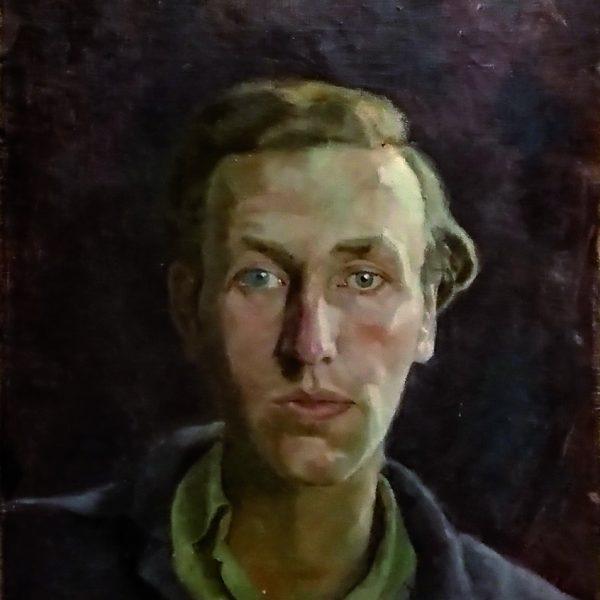 Ölgemälde: Selbstporträt Wieland Wagners