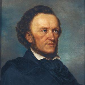 Ölgemälde: Porträt Richard Wagner