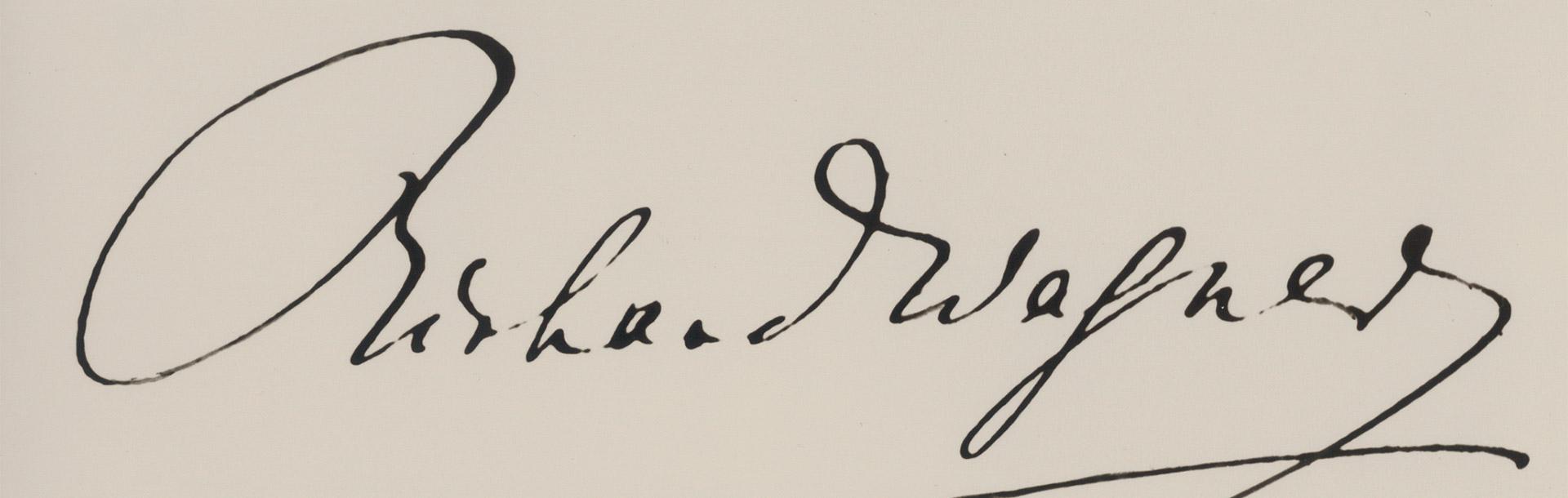 Unterschrift Richard Wagners