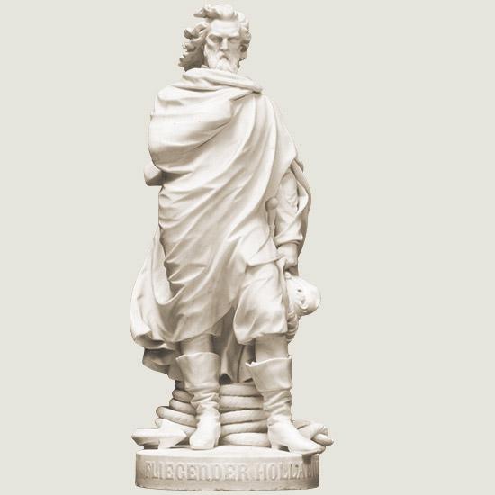 """Foto: Marmor-Statue """"Fliegender Holländer"""""""