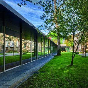 Neubau und Haus Wahnfried, Gartenseite