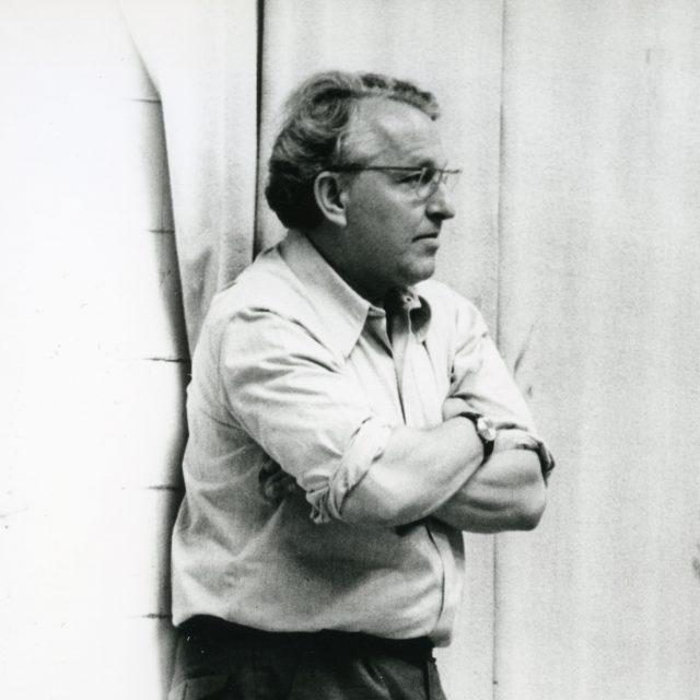 Wolfgang Wagner bei Proben im Festspielhaus, um 1975