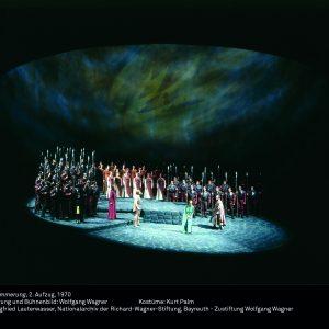 """Foto der Inszenierung von """"Götterdämmerung"""" von Wolfgang Wagner, 1970"""