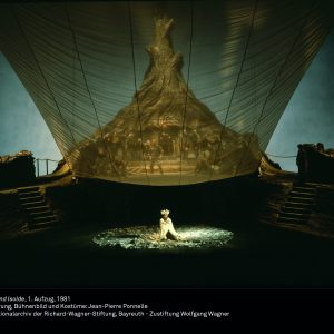 """Foto der Inszenierung von """"Tristan und Isolde"""" von Jean-Pierre Ponelle, 1981"""