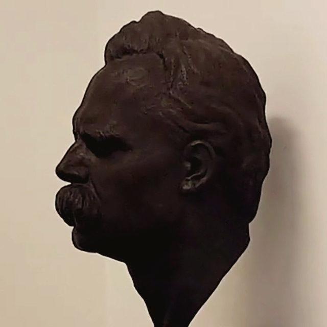 Foto: Büste Friedrich Nietzsches in der Dauerausstellung in Haus Wahnfried