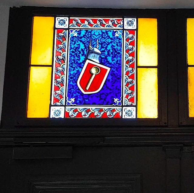 Foto: Fenster über der Haupteingangstür von Haus Wahnfried