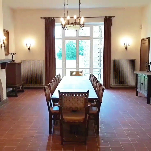 Foto: Speisezimmer Winifred Wagners im Untergeschoss des Siegfried Wagner-Hauses