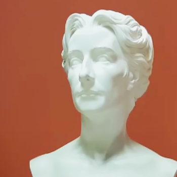 Foto: Porträt-Büste Cosima Wagners in der Halle von Haus Wahnfried