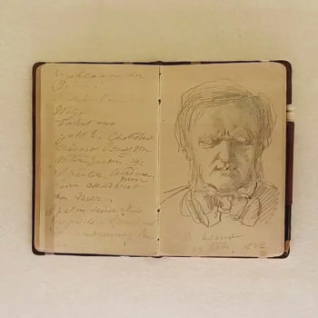 Foto: Letztes Porträt Richard Wagners vom 12. Februar 1883