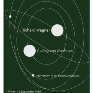 "Plakat zur Intervention ""Richard Wagner und Ludwig van Beethoven"", 17. Mai bis 13. September 2020"