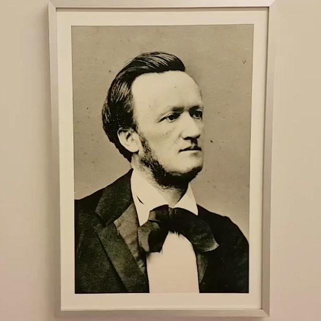 Foto: Porträts Richard Wagners aus den 1860ern in Haus Wahnfried