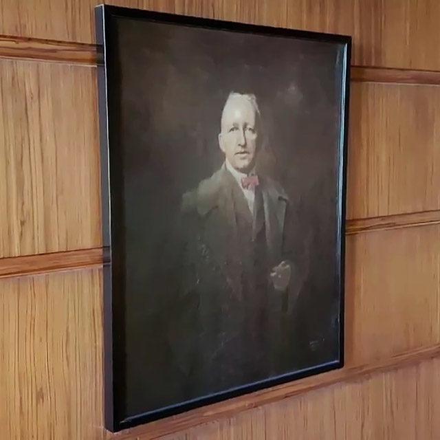 Foto: Porträt Siegfried Wagners von seinem Sohn Wieland im Siegfried Wagner-Haus