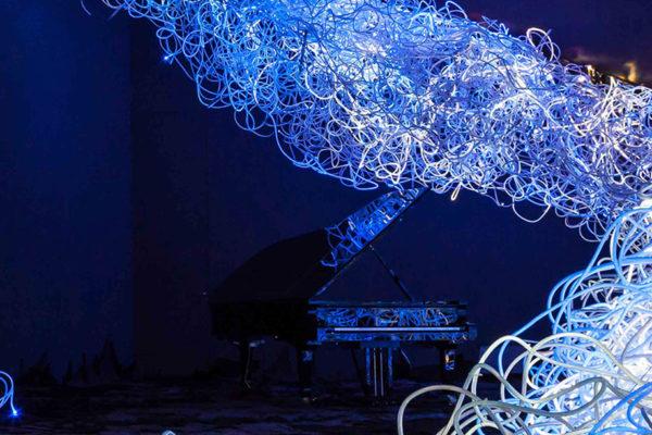 Foto: rosalie: KLINGER | Begehbare Landschaften der Melancholie – kinetisch-interaktive Licht-Klang-Skulptur, Museum der bildenden Künste Leipzig 2013