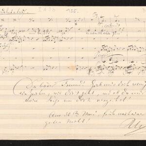 Digitalisat Brief von Richard Wagner an Franz Liszt mit Noten, 30.05.1857 © Nationalarchiv der Richard-Wagner-Stiftung, Bayreuth