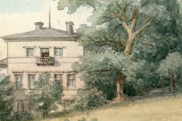 Aquarell: Susanne Schinkel: Hotel Fantaisie, 1878 © Nationalarchiv der Richard-Wagner-Stiftung, Bayreuth